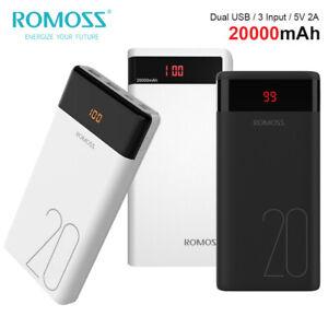 ROMOSS Batería Externa 20000mAh Rápido Cargador Portátil Móvil Power Bank...