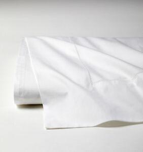 SFERRA-ANALISA-ITALIAN-WHITE-COTTON-PERCALE-FLAT-SHEET-WITH-HEMSTITCH