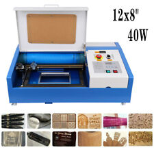 12x 8 40w Co2 Laser Engraving Cutting Machine Engraver Cutter With Wheel