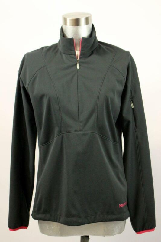 Lovely Marmot Black Half Zip Jacket Pullover Lightweight Media Pocket Athletic Small
