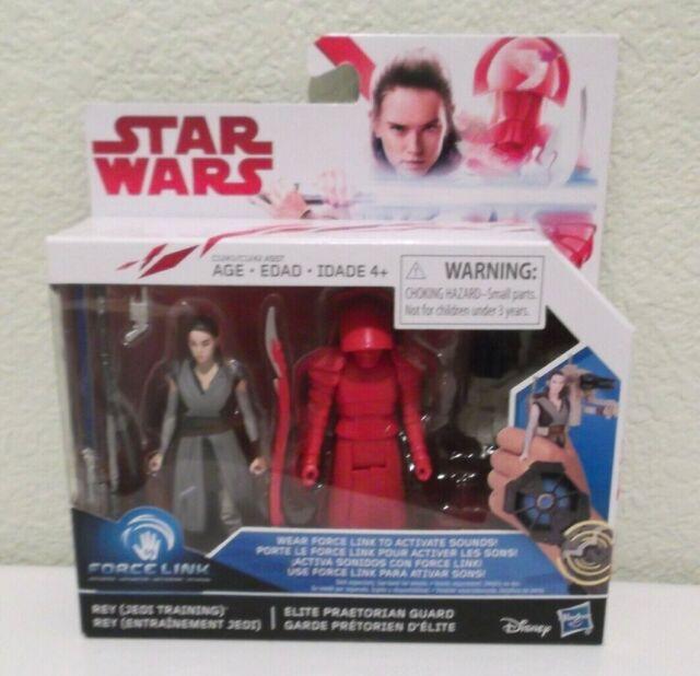 Star Wars Jedi Training Force Link Activated Figs Rey & Elite Praetorian Guard