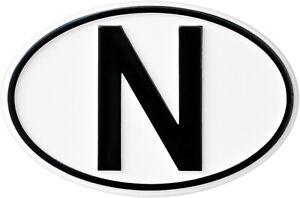 Hoch-Relief-N-Schild-Emblem-Norwegen-N-Norway-Schild-HR-Art-16006-selbstklebend