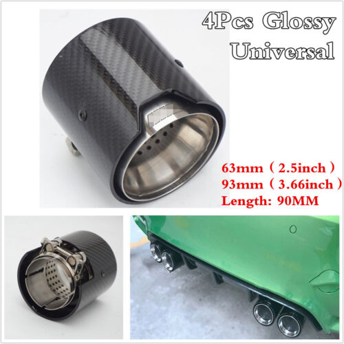 4Pcs Glossy 100/% Carbon Fiber Exhaust tip For BMW M Performance exhaust pipe M2