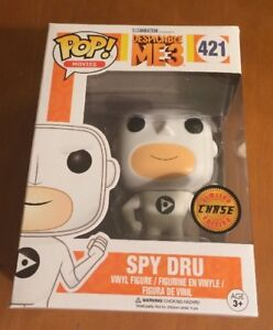 POP MOVIES DESPICABLE ME 3 FLUFFY  POP # 420 GRU CHASE EDITION # 421 MINT NEW