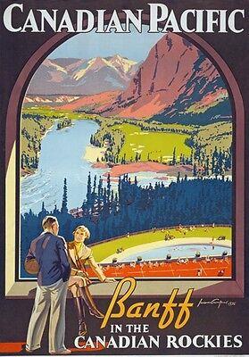 TR95 Vintage New Mexico Arizona Rockies USA Railway Poster Re-Print A4