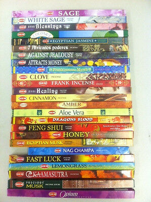 Hem Incense Sticks: 12 Packs x 8 Sticks = 96 Total - You Pick The Scent