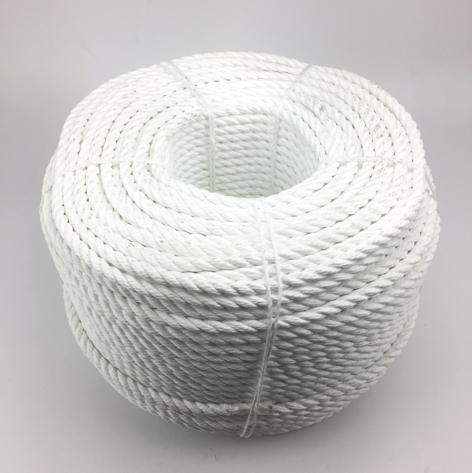 8mm White 3 Strand Multifilament x 75 Metres (Floating Rope) Softline Rope
