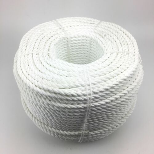 16mm weiß 3 Stränge Multifilament x 35 Meter (schwimmend Seil) Softleine Seil