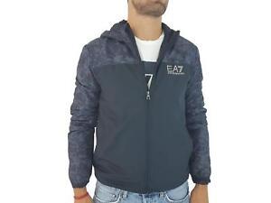 Giubbotto-EA7-Emporio-Armani-7-EA-6ZPB61-Uomo-Cappuccio-Blu-Giacca-Pile