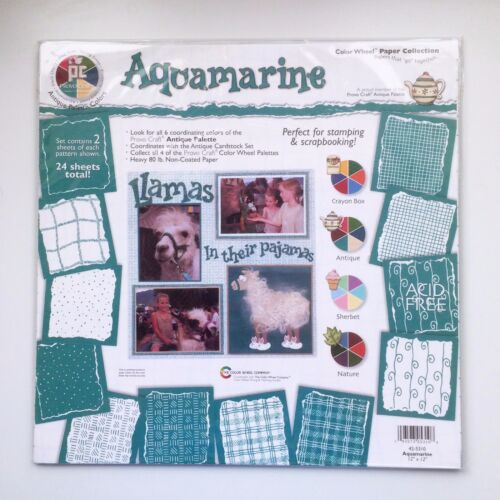 Aquamarine Provo Craft Color Wheel Paper Collection Scrap Pad 12x12