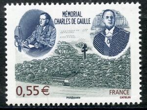 STAMP-TIMBRE-FRANCE-N-4243-MEMORIAL-CHARLES-DE-GAULLE