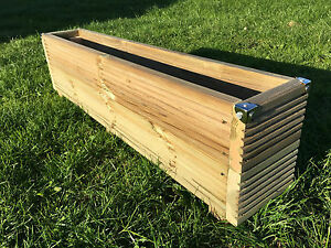 Image Is Loading Tall Wooden Patio Planter Window Box Decking Trough