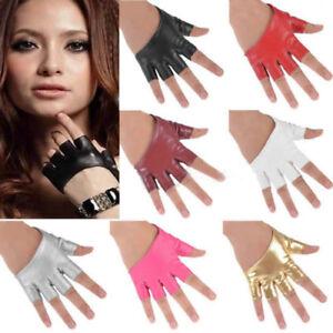 Women-039-s-Fashion-Half-Finger-PU-Leather-Gloves-Fingerless-Driving-Show-Palm-Dance