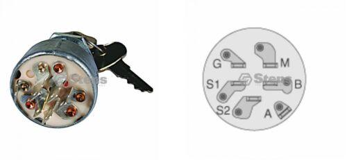 John Deere X740 X744 X748 X749 Z225 Z235 Z245 Z255 Z445 Z465 ZZ645 Key /& Switch