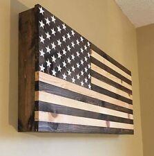 American Flag Wooden Gun Rack Hidden Gun Cabinet Secret Compartment