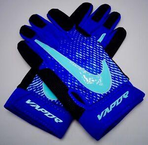 MéThodique Nike Vapor Pro Baseball Gants Jeu Royal / Noir / Léger Aqua Pour Homme Grand TrèS Poli
