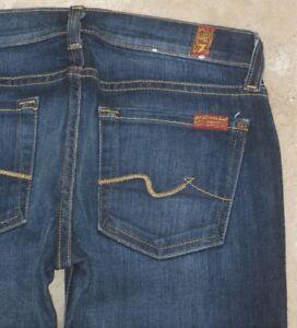 For scuro Mankind 25 All 7 Lavaggio Women Jeans Bootcut lavato Sz wPxRBR