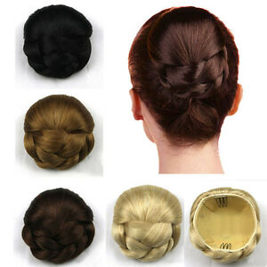 Image Is Loading Hair Chignon Synthetic Bun Hairpiece Clip In
