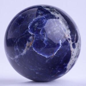 826g 86mm Large Natural Blue Sodalite Quartz Crystal Sphere Healing Ball Chakra