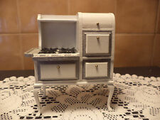 Dollhouse Miniature Vintage White Wood Roper Cooking Stove-LOWERED PRICE
