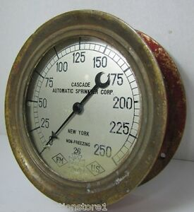 Antique Cascade Auto Sprinkler Corp Us Gauge Co Ny Pat 1906 Brass Red Fire Alarm Ebay