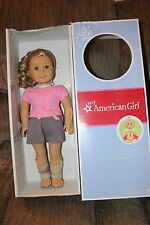 American Girl Truly Me Just Like You Doll 56 Blond Curly Hair Blue NEW In Box