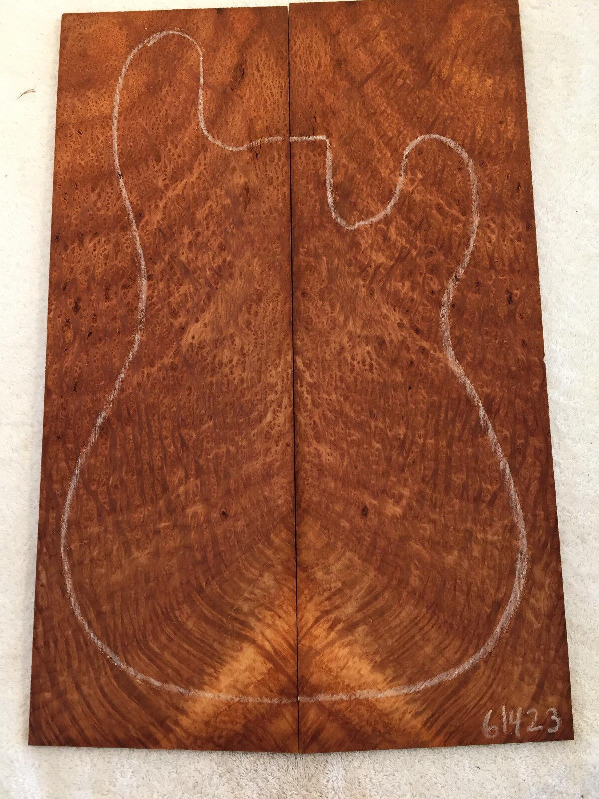 Rotwood Lace Burl Bookmatch Set - Luthier Tone Wood .34 x 15 x 22.5 - 71423