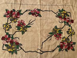 Vintage-Primitive-Rug-Hooking-Pattern-034-Cherry-Blossom-034-No-3373
