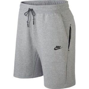 Carretilla Comienzo Faringe  928513-063} Para Hombre Pantalones Cortos Nike Sportswear Tech Fleece Gris  oscuro * NUEVO *   eBay