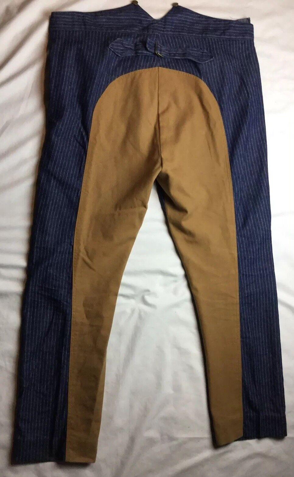 Mens 46 33 Frontier Classics denim pinstripe Saddle western cowboy pants