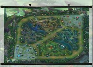 Details about LEAGUE OF LEGENDS MAP HD GAME WATERPROOF POSTER PAINTING  DECORATIVE BANNER