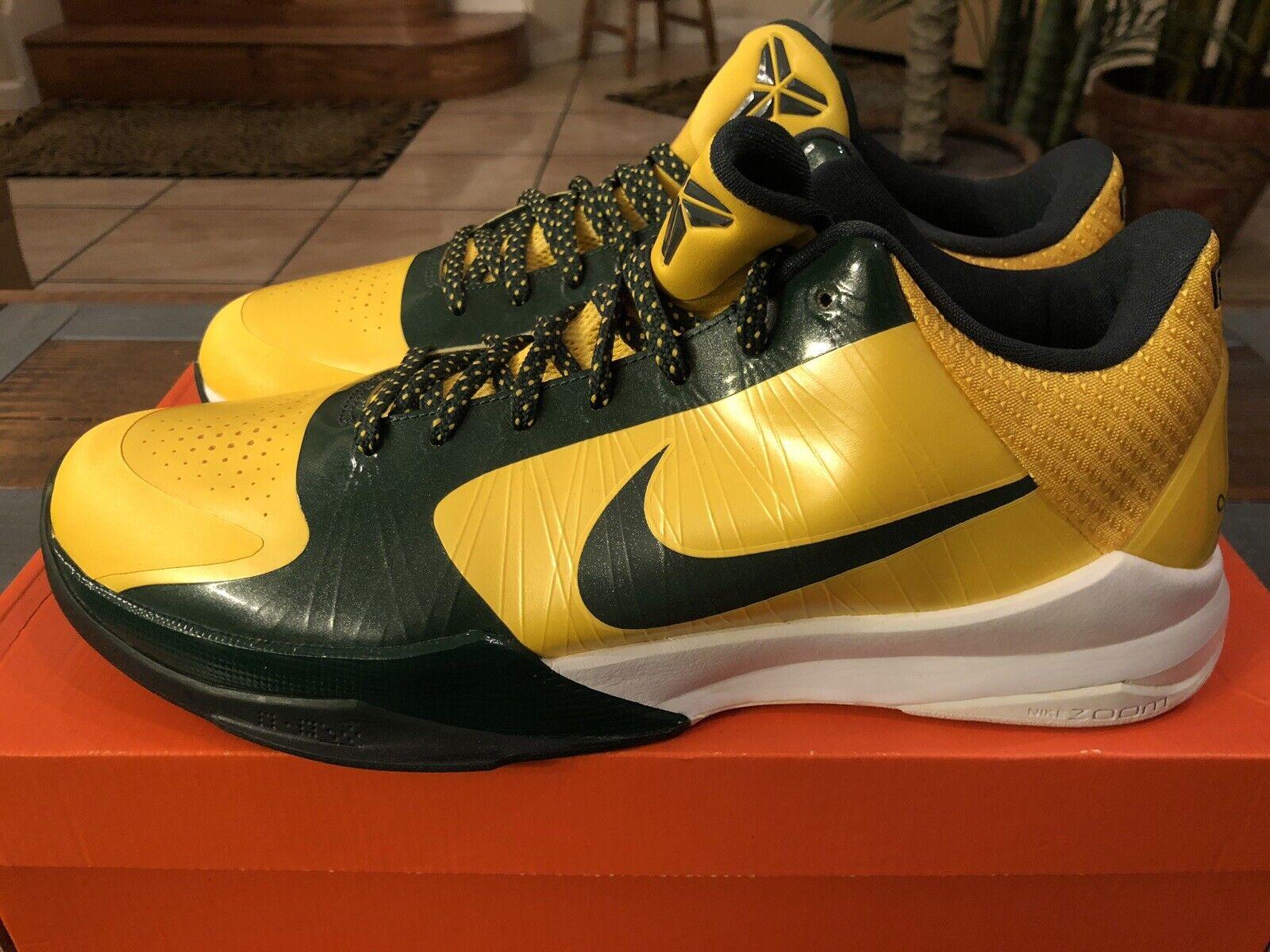 Nike 2009 Zoom Kobe V 5 Rice High School Edition Maize 386429-700 Size 13