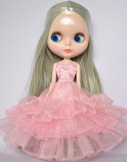 Takara 12  Neo Blythe Straight Grey Hair Nude Doll from Factory TBO221