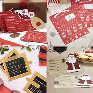 Christmas Scratch Card Trivia X 10 Xmas Table Ice