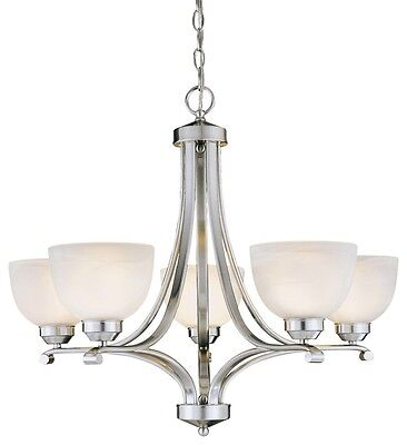 Overland Park Brushed Nickel 9 Light Chandelier by Minka Lavery