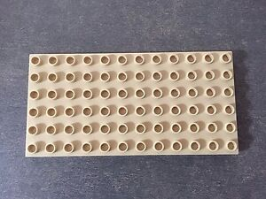 LEGO-Duplo-Plate-6-x-12-Platte-4196-Tan-Beige-6157-5609-5634-4686