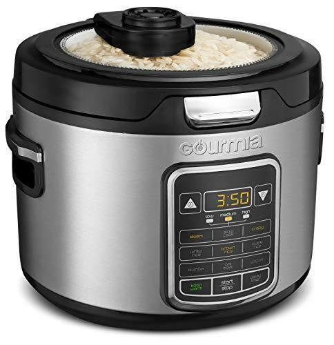 Gourmia GRC970 11-in-1 Stainless Steel Digital 20-Cup Rice Cooker - Steam Tray