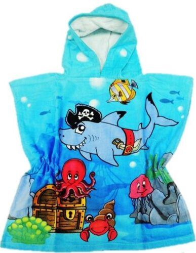 Kinder Kapuzenponcho Kapuzenhandtuch Poncho Handtuch mit Kapuze Unisex Strand