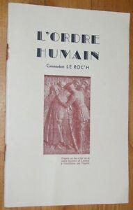 Commandant-LE-ROC-039-H-L-039-ORDRE-HUMAIN-1960