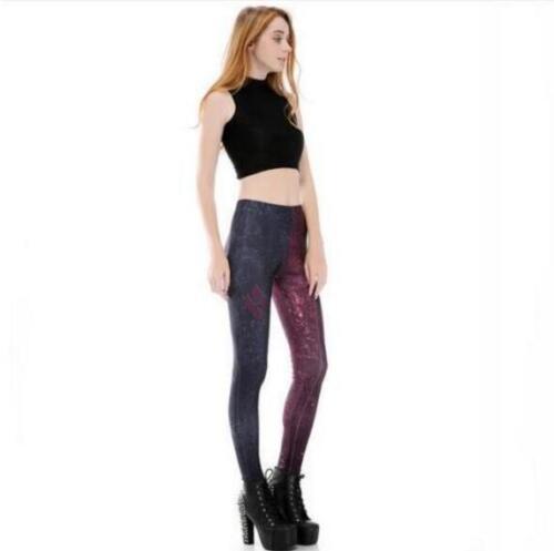Women Slim legging patchwork Harley Quinn printed Legging S-4XL elastic Legging