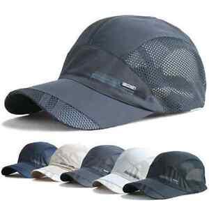 5f9c7e1202d Women Men Sport Baseball Mesh Hat Running Visor Quick-drying Cap ...
