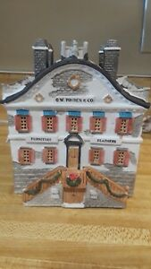 Lemax-Dickensvale-Christmas-Village-Furniture-Store-GW-Pruden-Lighted-Building