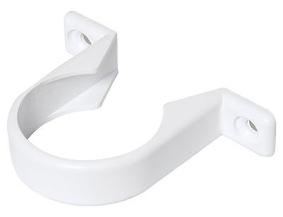 FLOPLAST 40mm (1.1/2) PIPE CLIP WHITE ABS SOLVENT WASTE WELD PACK of 1 2 5 10 20