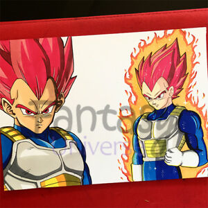 Vegeta Super Saiyan God Dragon Ball Original Artwork Disegno