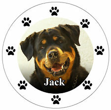 YOUR DOGS OWN PHOTO & NAME - CAR / WINDOW STICKER / DECAL + ONE FREE  -NEW  GIFT
