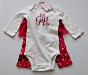ec58bc69c Details about NWT-Carter's Infant Girl's 2 pc Christmas Outfit-Best Gift  Ever-Size 3 M/Month