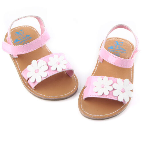 Baby Kids Girls Soft Sole Crib Sandals Newborn Loop Beach Floral Sneakers Shoes
