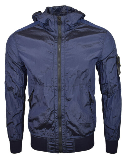 Mens Coat Waterproof Hooded Lightweight Jacket with Pockets in Stone or Navy NEW