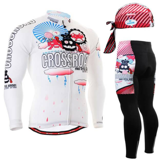 FIXGEAR CS-2901 SET Cycling Jersey & Padded Pants,MTB Bike,BMX,Beanie Free GIFT