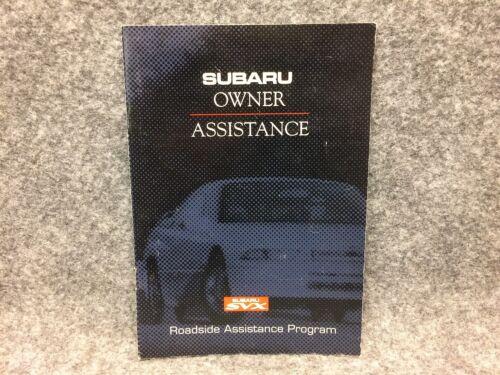 1992-1996 Subaru SVX Owner Assistance Manual Guide Book Road Side Program 28906